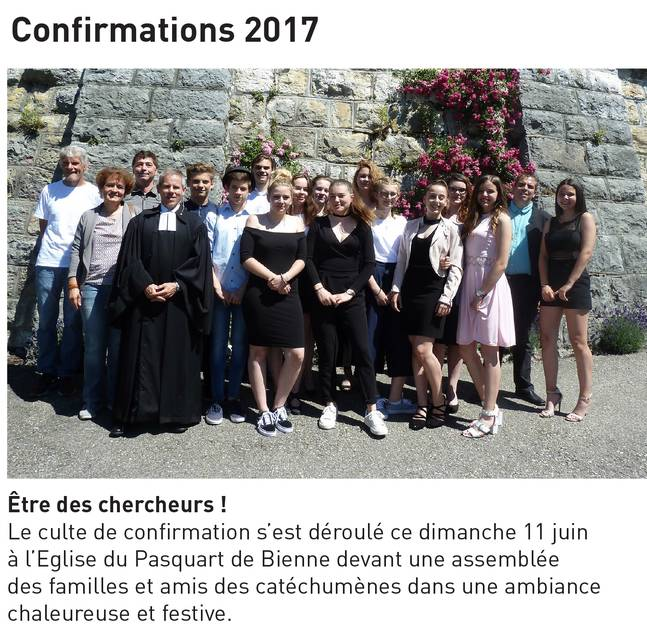 Confirmations 2017